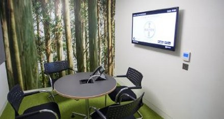 NEC MultiSync large format display in meeting room