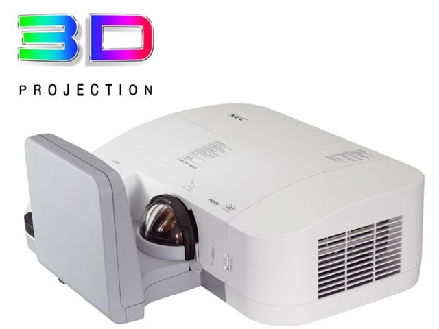 U310W-ProjectorViewRight-slant3DLogo