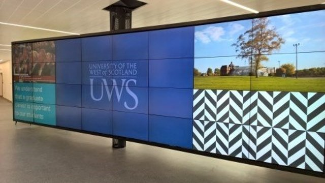 UWS University of West of Scotland Video Wall