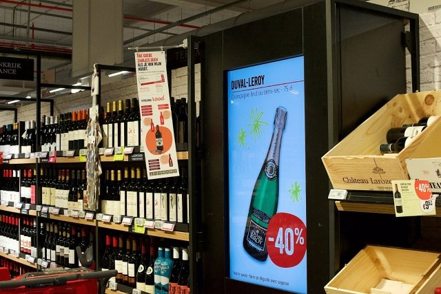 Branding with visual technology @ Delhaize Supermarkets